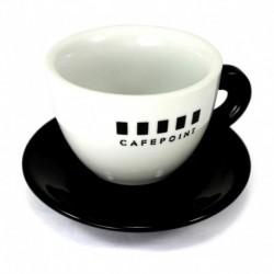 Cafepoint Cappuccino šálka, 140ml  Typ šálky-Na cappuccino Množstvo-1 ks Šálka-S podšálkou Materiál-Porcelán Farba šálky-Biela