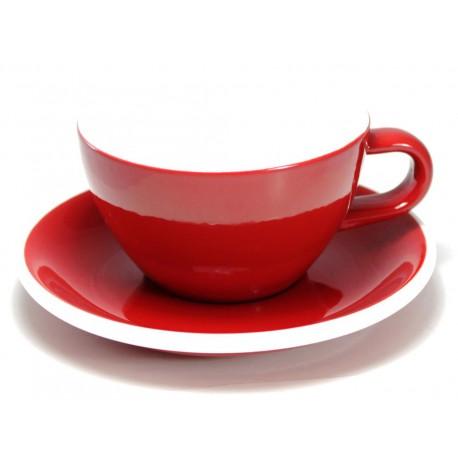 Acme & Co EVO Cappuccino šálka s podšálkou červená, 190ml