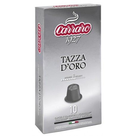 Carraro Tazza D'Oro pre Nespresso, 10x5,2g