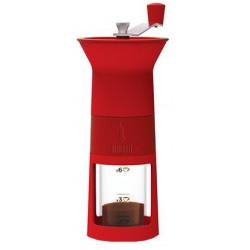 Bialetti Ručný mlynček na kávu, červený