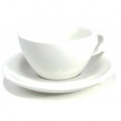 Acme & Co EVO Cappuccino šálka s podšálkou biela, 190ml