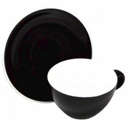 Acme & Co EVO Cappuccino šálka s podšálkou čierna, 190ml