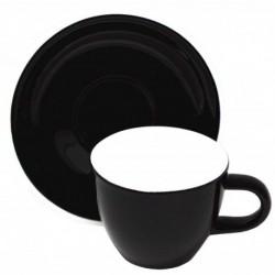 Acme & Co EVO Demitasse šálka s podšálkou čierna, 70ml