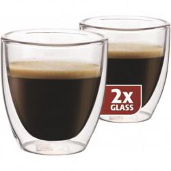 MAXXO Espresso Pohár s dvojitým sklom, 2x80ml