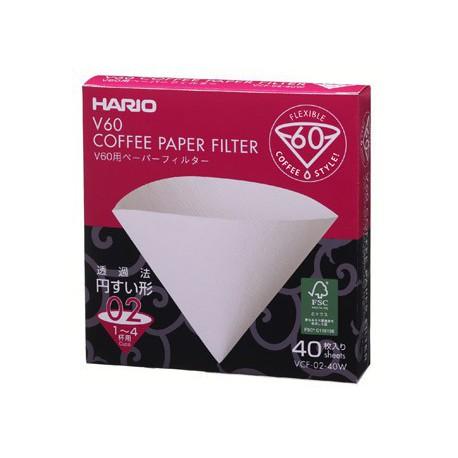 Hario Papierové filtre pre dripper V60-02, 40ks