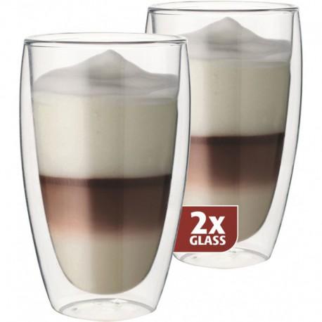 MAXXO Latte Pohár s dvojitým sklom, 2x380ml