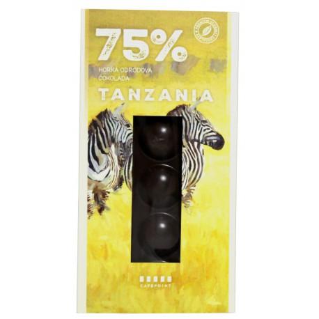 Cafepoint Tmavá Odrodová čokoláda Tanzania 75%, 70g