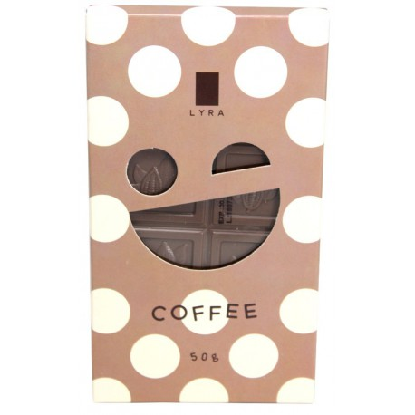 LYRA Mliečna čokoláda KIDS Coffee, 50g