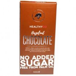 HealthyCo Mliečna čokoláda s lieskovcami, 100g
