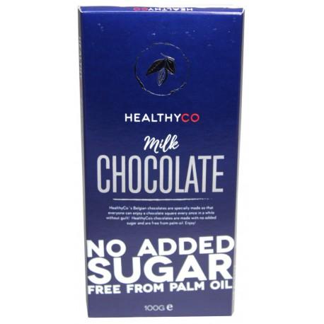 HealthyCo Mliečna čokoláda, 100g