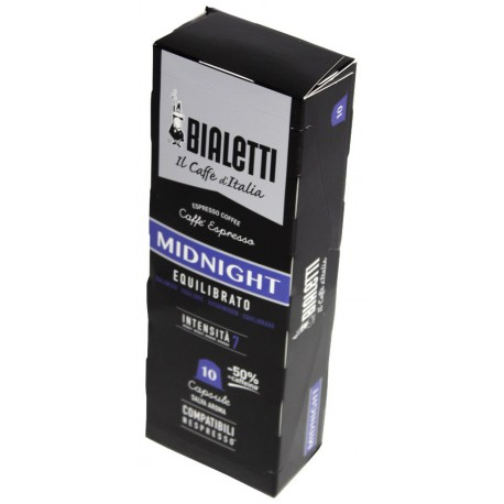Bialetti Midnight pre Nespresso, 10x5,5g