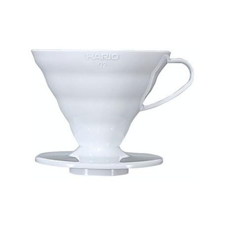 Hario Dripper Plastový, biely V60-02W