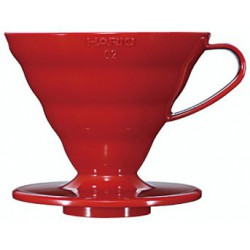 Hario Dripper Plastový, červený V60-02R