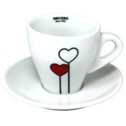 Ascaso šálka Cappuccino LOVE, 1ks