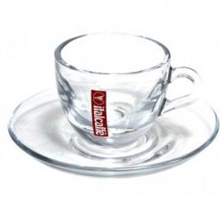 Italcaffé Espresso šálka s podšálkou sklenená, 65ml