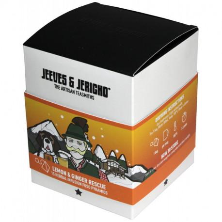 Jeeves & Jericho Bylinkový čaj Lemon/Ginger Rescue, 15ks