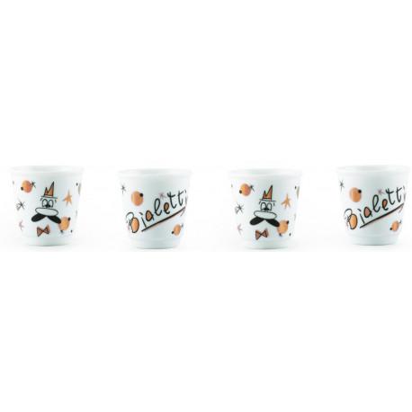Bialetti Rose Gold Espresso Pohárik 80ml, 4ks