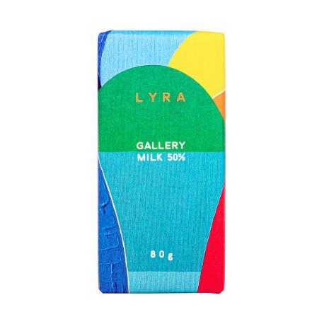 LYRA Gallery Mliečna čokoláda 50%, 80g