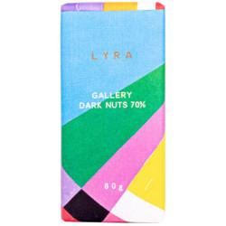 LYRA Gallery Horká čokoláda 70% s lieskovcami, 80g