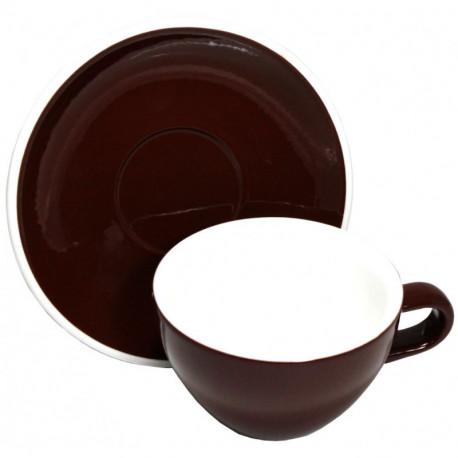 Acme & Co EVO Cappuccino šálka s podšálkou hnedá, 190ml