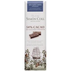 Simón Coll Horká čokoládka 54% bez cukru, 25g