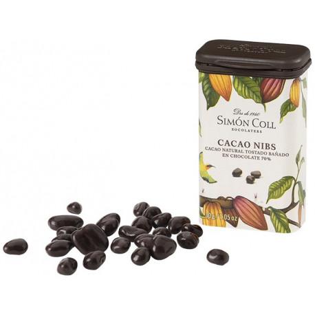 Simón Coll Kakaové bôby v horkej čokoláde 70%, 30g