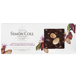 Simón Coll Turrón Horká čokoláda 70% s mandľami Marcona, 250g
