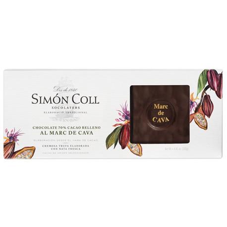 Simón Coll Turrón Horká čokoláda 70% s Marc de Cava, 250g