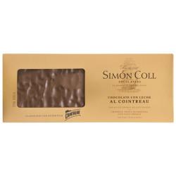 Simón Coll Turrón Mliečna čokoláda 32% s Cointreau, 250g