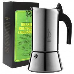 SET na prípravu espressa (moka kávovar a zrnková káva Brasil Cold Soul, 250g)