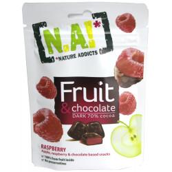 N.A! Fruit & Chocolate Malina/Jablko v horkej čokoláde 70%, 35g