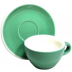 Acme & Co EVO Cappuccino šálka s podšálkou zelená, 190ml