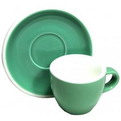 Acme & Co EVO Demitasse šálka s podšálkou zelená, 70ml