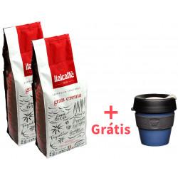 Italcaffé Gran Crema 2x1kg, zrnková káva + KeepCup Storm S