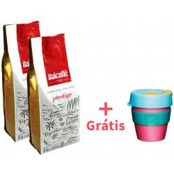 Italcaffé Prestige Bar 2x1kg, zrnková káva + KeepCup Magnetic S