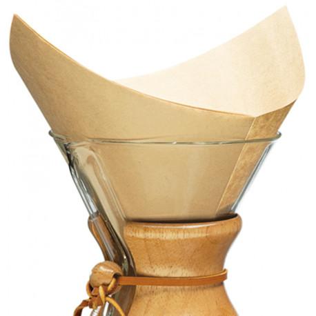 Chemex Coffeemaker Filter Štvorcový hnedý, 100ks
