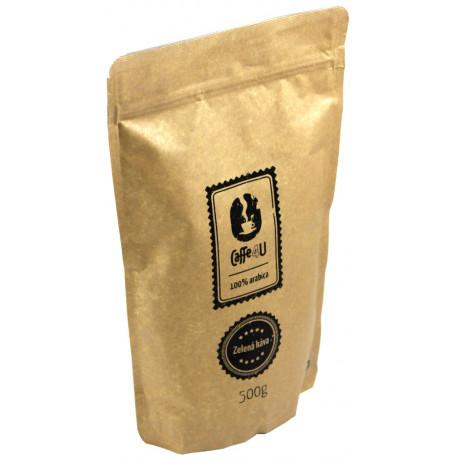 Caffe4U Zelená káva 500g, mletá
