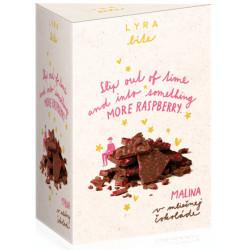 LYRA Bite Mliečna čokoláda Malina, 100g