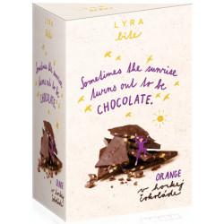 LYRA Bite Horká čokoláda Pomaranč, 100g