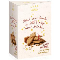 LYRA Bite Biela čokoláda Slaný karamel, 100g