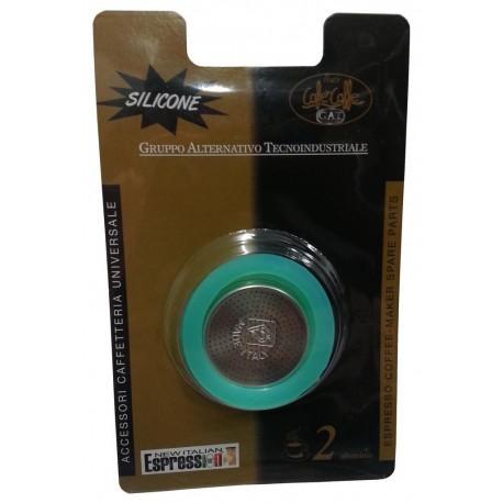 Tesnenie pre moka veľkosť 2 - 2ks, silikónové + filter