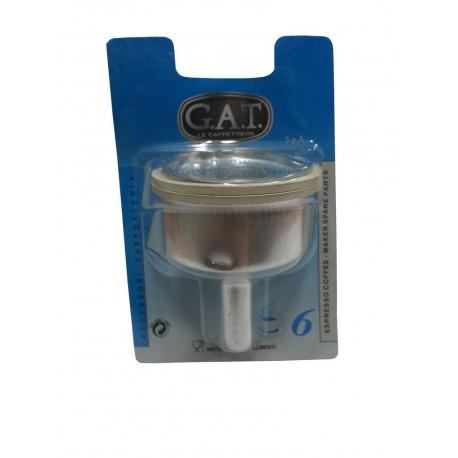 Tesnenie pre moka veľkosť 6 - 2ks, gumené + filter + lievik