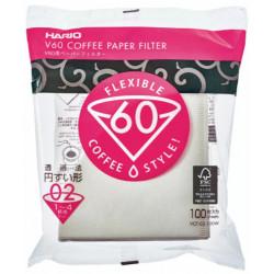 Hario Papierové filtre pre Dripper V60-02, 100ks
