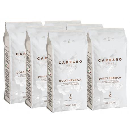 Carraro Dolci Arabica 6x1kg, zrnková káva