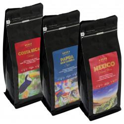 SET Cafepoint Odrodová káva 3x500g (Uganda, Kenya, Papua New Guinea)