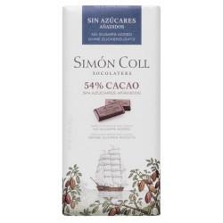Simón Coll Horká čokoláda 54% bez cukru, 85g