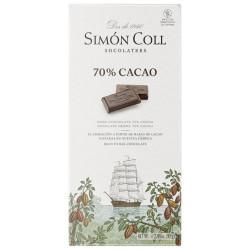 Simón Coll Horká čokoláda 70%, 85g