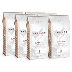 Carraro Super Bar 6x1kg, zrnková káva