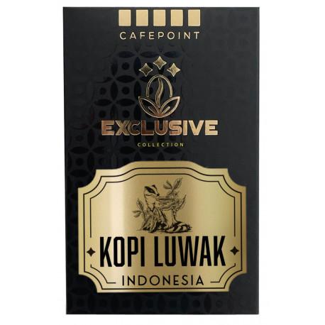 Cafepoint Indonesia Kopi Luwak cibetková káva 125g, zrno