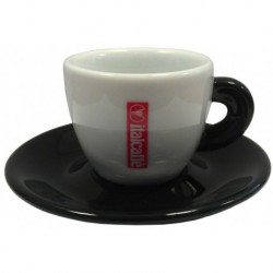 šálka Italcaffé espresso - čierna